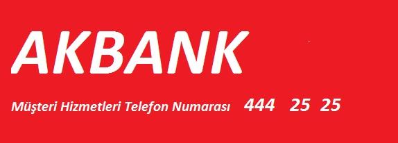 akbank telefon numarası