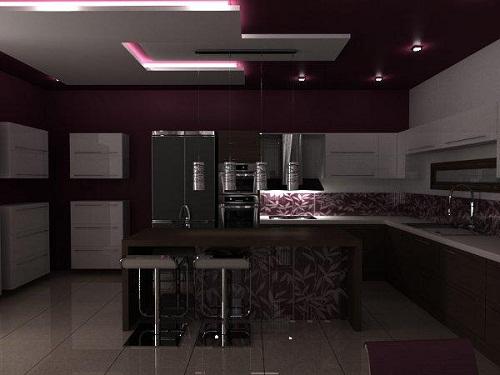 Modern Dekorasyonda Mutfak Asma Tavanları